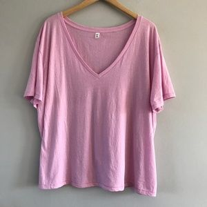 Nordstrom BP V-Neck Tee Lilac Plus Size 3X